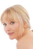 Het portret van de blonde Stock Foto
