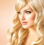 Het Portret van de blondevrouw royalty-vrije stock afbeeldingen