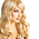Het Portret van de blondevrouw Stock Foto's