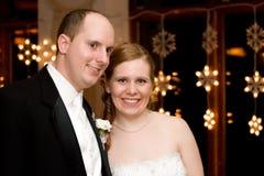 Het Portret van de bruid & van de Bruidegom Stock Foto's