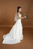 Het portret van de bruid met nam toe Royalty-vrije Stock Afbeelding