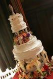 Het Portret van de Cake van het huwelijk Stock Afbeeldingen
