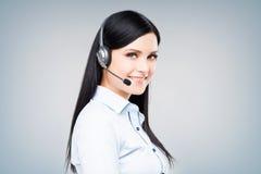 Het portret van de call centreexploitant Royalty-vrije Stock Foto