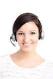 Het portret van de call centretechnicus Stock Afbeeldingen