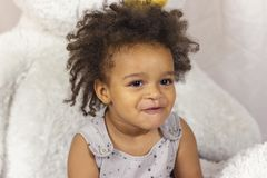 Het portret van de close-up van meisje royalty-vrije stock afbeelding