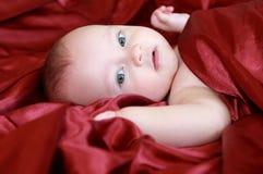 Het portret van de close-up van aanbiddelijke baby Stock Afbeelding