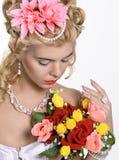 Portret van de elegante vrouw Royalty-vrije Stock Foto
