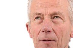 Het portret van de close-up van de hogere mens royalty-vrije stock afbeeldingen