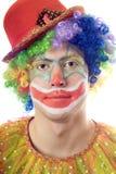 Het portret van de close-up van een clown stock fotografie