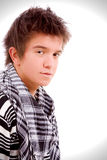 Het portret van de close-up van een jonge kerel, Stock Afbeeldingen