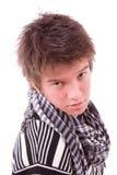 Het portret van de close-up van een jonge kerel Stock Afbeelding