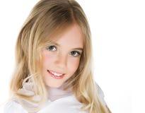 Het portret van de close-up van een mooi meisje Royalty-vrije Stock Fotografie