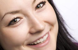 Het portret van de close-up van een mooi meisje Stock Afbeeldingen