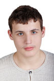 Het portret van de close-up van een tiener Stock Foto