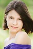 Het portret van de close-up van het jonge glimlachen Stock Fotografie