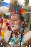 Het portret van de close-up van Inheemse Amerikaan Stock Foto's