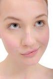 Het portret van de close-up van jonge vrouw Royalty-vrije Stock Fotografie