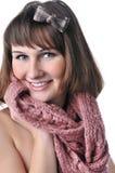 Het portret van de close-up van mooi glimlachend meisje Stock Afbeeldingen