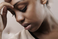 Het portret van de close-up van Mooie Afrikaanse vrouw Stock Afbeelding