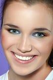Het portret van de close-up van mooie jonge vrouw. Royalty-vrije Stock Foto