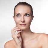 Het portret van de close-up van sexy Kaukasische jonge vrouw Stock Fotografie