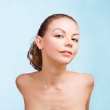 Het portret van de close-up van sexy Kaukasische jonge vrouw Royalty-vrije Stock Afbeelding