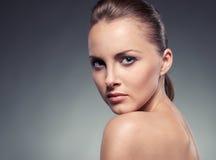 Het portret van de close-up van sexy vrouw Stock Fotografie