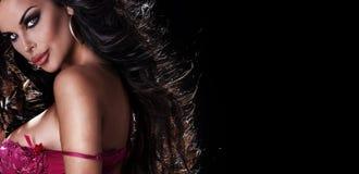 Het portret van de close-up van sexy vrouw Royalty-vrije Stock Foto