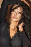 Het portret van de close-up van sexy vrouw Stock Foto