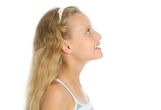 Het portret van de close-up van vrij jong meisje Stock Fotografie