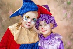 Het portret van de clown Stock Afbeeldingen