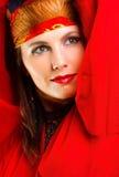 Het portret van de de dansersclose-up van de zigeuner Royalty-vrije Stock Foto's