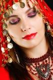 Het portret van de de dansersclose-up van de zigeuner Royalty-vrije Stock Foto
