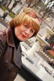 Het portret van de de leeftijdsvrouw van Midle Stock Foto's