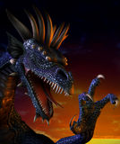Het Portret van de draak Royalty-vrije Stock Afbeeldingen