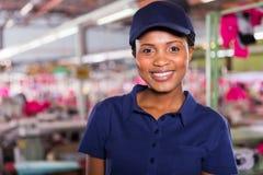 Het portret van de fabrieksarbeider Stock Foto