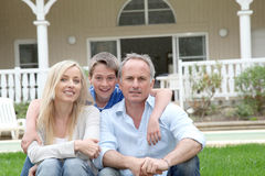 Het portret van de familie stock afbeeldingen