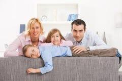 Het portret van de familie Stock Foto's