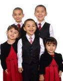 Het portret van de familie, broerszusters Royalty-vrije Stock Afbeelding