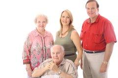 Het portret van de familie met handicapvader Stock Foto's