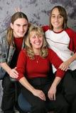 Het Portret van de Familie van de vakantie - de Oren van het Konijn stock afbeeldingen