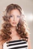 Het portret van de glamour van mooie vrouw Stock Afbeeldingen