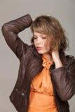 Het portret van de glamour van mooie vrouw Stock Foto