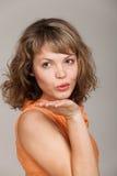 Het portret van de glamour van mooie vrouw Stock Afbeelding