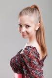 Het portret van de glamour van mooie vrouw Stock Foto's