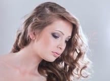 Het portret van de glamour van mooie vrouw Royalty-vrije Stock Afbeelding