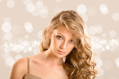 Het portret van de glamour van mooie vrouw royalty-vrije stock fotografie