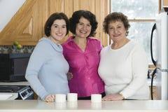 Het portret van de groep van drie vrouwen Stock Afbeeldingen