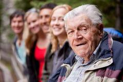 Het Portret van de grootvader Stock Foto's