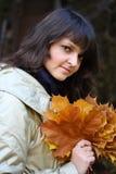 Het portret van de herfst Stock Fotografie